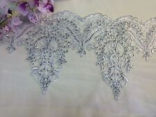 """Alencon Bridal Mesh Lace Trim, Corded and Sequined, EXCELLENT QUALITY, 9"""""""
