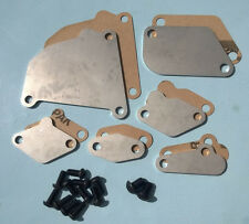 87-91 RX7 RX-7 FC3S FC EGR Block Off Plates Blocker TII TURBO STAINLESS + Gasket