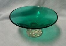 BEAUTIFUL ERICKSON GLASS MID CENTURY MODERN GREEN BOWL CONTROLLED BUBBLE BASE