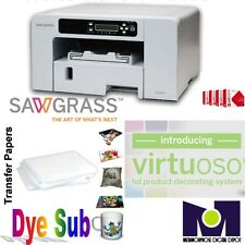 Sawgrass Virtuoso SG400 Complete Sublimation Printer Kit Ink+100sh