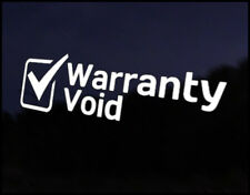 Warranty Void Funny Car Decal Vinyl Sticker JDM VW DUB Drift Race Euro Swag