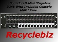 Soundcraft MINI Stagebox 32R for Performer Expression Cat5 Compact B Stock