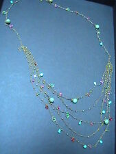 LIZ PALACIOS Swarovski Crystal/ Beads Designer's Necklace Chain