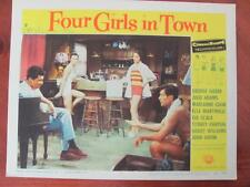 Vtg 1956 Theater Movie FOUR GIRLS IN TOWN Lobby Card Gia Scala George Nader