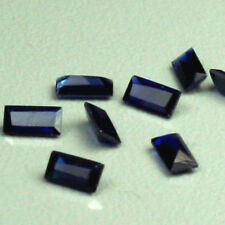 10 pieces perfect blue Sapphire Loose Cubic Zirconia Baguette AAA quality 5x2mm