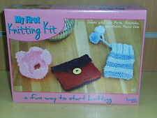 Brand New in Box-First Knitting Kit from The Craft Shop Range