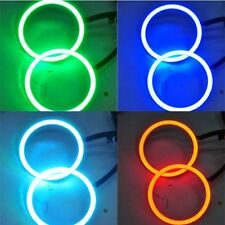 2x Car LED Ring Waterproof RGB LED Angel Eyes COB Light 70MM With Remote Control