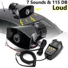 12V 115db Loud Air Horn Siren for Car Boat Van Truck 7 Sounds PA System + Mic