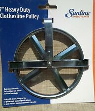 Household Essentials 7 inch Heavy Duty Clothes line Pulley CLOTHESLINE 277