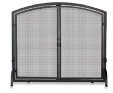 Uniflame SINGLE PANEL BLACK WROUGHT IRON SCREEN w/ DOORS- LARGE S-1064 NEW