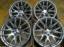 "20"" ST3 STAGGERED HYPER SILVER ALLOY WHEELS 5X120 BMW 1 SERIES M COUPE M3 M5 M6"
