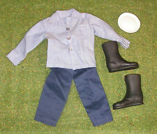 VINTAGE ACTION MAN 40th ACTION SAILOR OUTFIT SHIRT DENIMS CAP BOOTS for GI JOE