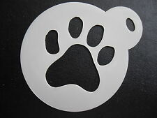 LASER CUT Piccolo Paw Print DESIGN CAKE, biscotti, CRAFT & Face Painting Stencil