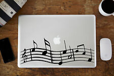 "Musical Notes Decal Sticker for Apple MacBook Air/Pro Laptop 11"" 12"" 13"""