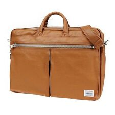 New PORTER FREE STYLE 2WAY BRIEF CASE 707-08209 CAMEL From JP