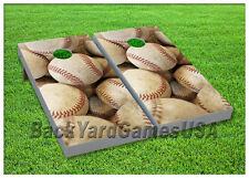 VINYL WRAPS Cornhole Boards DECALS Baseball Fans Bag Toss Game Stickers 8