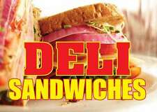 """DELI SANDWICHES 24""""x18"""" LARGE HANGING COUNTER WALL FOOD SIGNS"""