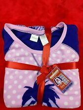 Disney Eeyore Womens Microfleece 2 Piece Pajama Set New Sleepwear Pink Purple 2X