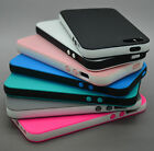 DUAL COLOR RUBBER SOFT SILICONE GEL BUMPER TPU CASE COVER FOR IPHONE 5 5S 5C 6S
