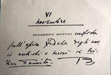 GIUSEPPE BOTTAI - biglietto da visita - scritto ed autografo    vedi