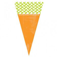 15 x Pasqua Egg Caccia carota a forma di cono Cello trattare BAGS & Twist Legami Gratis P&P