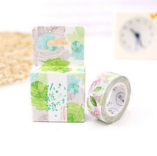 Colored leaves DIY Sticky Adhesive Sticker Masking Washi Tape Diary Gift Tag