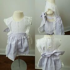 Vintage Holiday sportswear girls lavender eyelit 3t months dress bloomers bubble