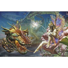 DRAGON'S DREAM - FANTASY ART POSTER - 24x36 SHRINK WRAPPED - FAIRY 1281