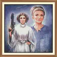 princess Leia 00 Cross Stitch Chart 12.0 x 12.0 Inches. carrie fisher