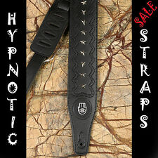 HYPNOTIC STRAPS STARS STUDS LEATHER STUDED GUITAR BASS ACOUSTIC STRAP PADDED