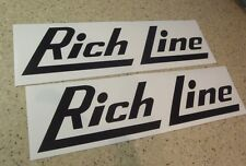 """Rich Line Vintage Fishing Boat Decals 12"""" 2-PAK FREE SHIP + FREE Fish Decal!"""