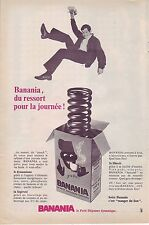 PUBLICITE ADVERTISING 034 1966 BANANIA du ressort pour la journée chocolat