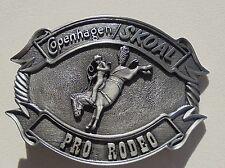 """COPENHAGEN/SKOAL PRO-RODEO BELT BUCKLE PEWTER COLOR """"NEW/UNUSED"""""""