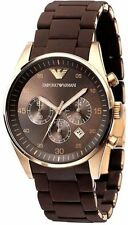 EMPORIO ARMANI AR5890 BROWN CHRONOGRAPH MENS WATCH GIFT 2YR WARANTY