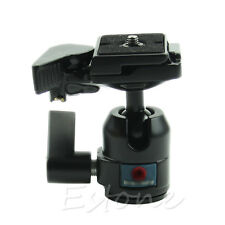 360° Rotate Camera Camcorder Tripod Monopod Ball Head Quick Release Plate