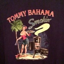 NEW TOMMY BAHAMA Relax BBQ Grill Grilling Pin Up Girl Men's Graphic T-shirt XL