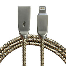 3D Zinc Alloy + Braided USB Cable for iPhone 7 6S Plus 5 5s Charger Power Cord
