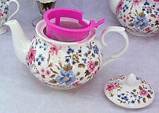 WHITTARD OF CHELSEA VICTORIA CHINTZ 6-CUP CHADSWORTH TEAPOT, NIB