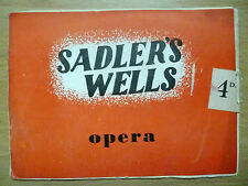 1950 Sadler's Wells Theatre Opera Programme- CARMEN (Bizet) 25 April