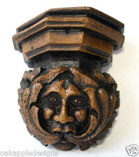 Green Man Corbel Medieval Reproduction Carving English Heritage Hand Made Gift