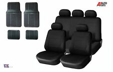 13 PCS BLACK CAR SEAT COVERS & RUBBER CAR MATS SET FOR  HYUNDAI i40 I30 I35