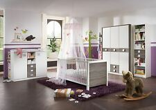 Babyzimmer-Set komplett JETTE 5tlg Bett Wickelkommode Schrank Regal MontanaEiche