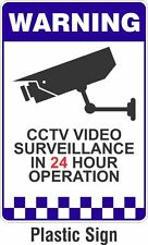 PLASTIC SECURITY WARNING SIGN PROTECT INFRARED CAMERA SURVEILLANCE CCTV RECORD