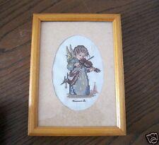 Gesticktes Hummelbild Engel mit Geige Rahmen ca.14x19 Stickerei Hummel