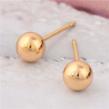 Authentic 18K Yellow Real Gold Filled Womens Gold Peas Stud Earring