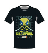 Marvel Yellow Deadpool Funko Small T-Shirt Pop Style New Black Collector Comics