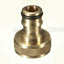 "3/4"" SOLID BRASS THREADED TAP GARDEN HOSE CONNECT ADAPTER TAP PIPE FITTING TOOL"