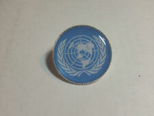United Nations Flag Silver Plated  Lapel Pin Badge