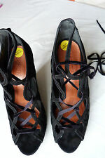 BRAND NEW Schutz High Heel Lace Up Black Shoe. UK Size 7