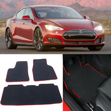3pcs Auto Carpet Mats Carpet Perfect Fitted For Tesla Model S P90D Car Floor Mat